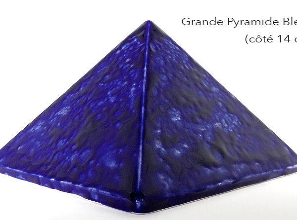 Achat pyramide - pyramide énergétique en céramique (côté 14 cm) - Bluee