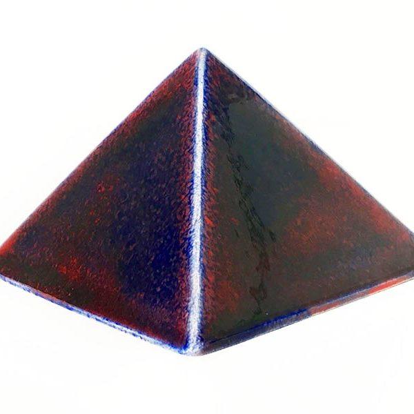 Achat pyramide - pyramide énergétique en céramique (côté 9 cm) - céleste