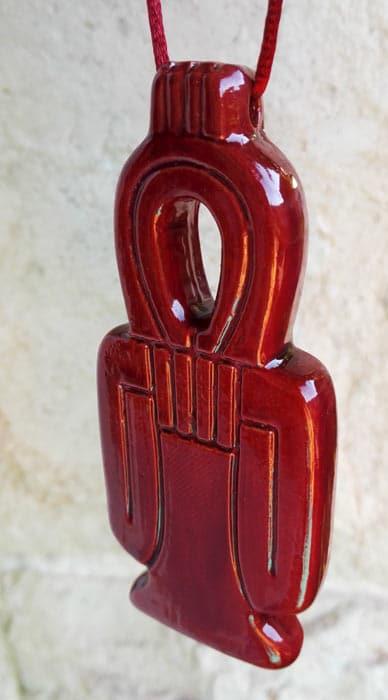 Amulette d'isis - porte bonheur et protection - Rouge - Statuette Isis achat