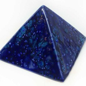 Achat pyramide - pyramide énergétique en céramique (côté 9 cm) - dream blue