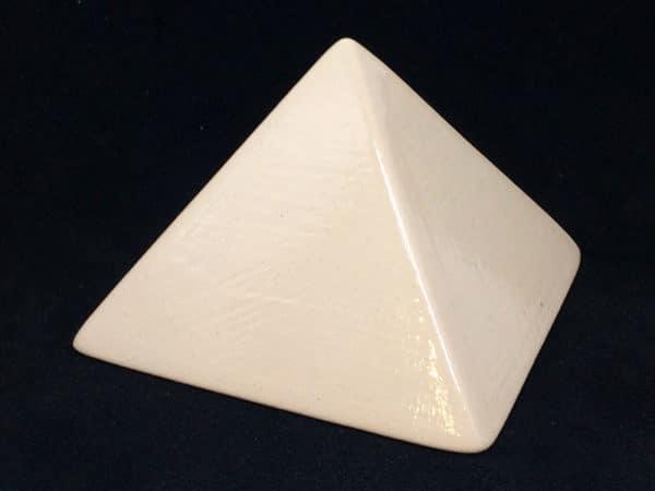 """Achat Pyramide énergétique (côté 9 cm) - """"Blanc"""""""