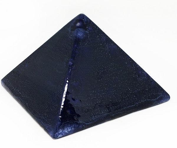 Achat pyramide - pyramide énergétique en céramique (côté 9 cm) - bleue