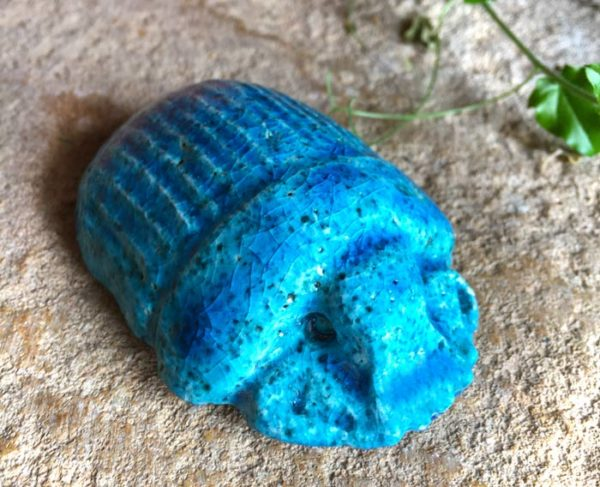 Acheter scarabée égyptien céramique terre égyptienne