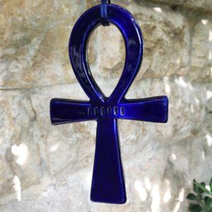 Achat croix de vie égyptienne - Amulette Ankh égyptienne - Bleu