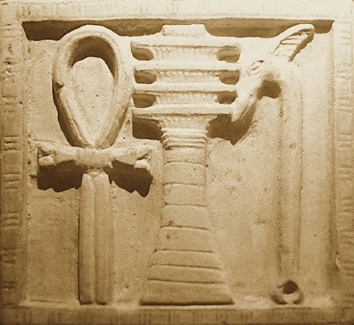 Pilier Djed en céramique pilier djed signification
