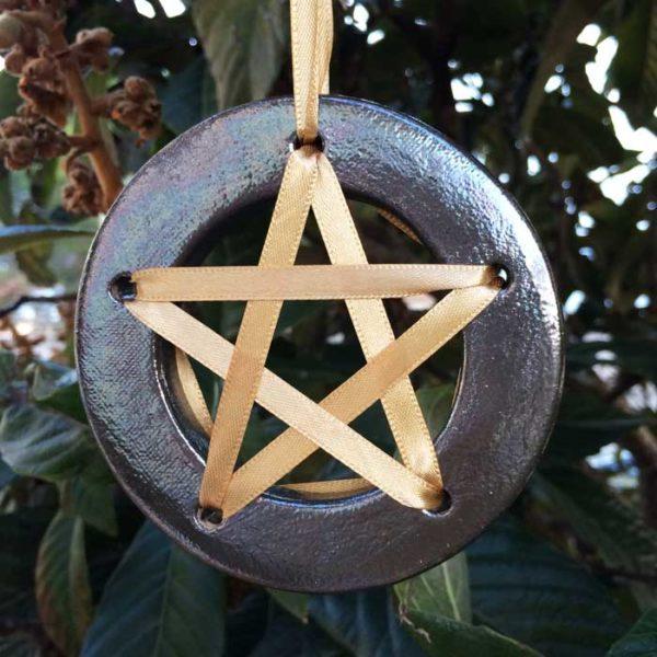 Pentagramme de chance - Noir argenté - acheter amulette pentagramme