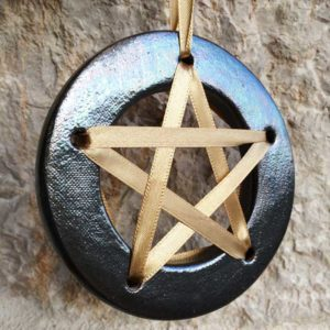 Amulette de chance - noir - amulette pentagramme chance aux jeux