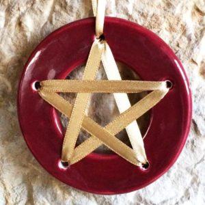 Amulette de chance - Rouge - amulette pentagramme chance aux jeux