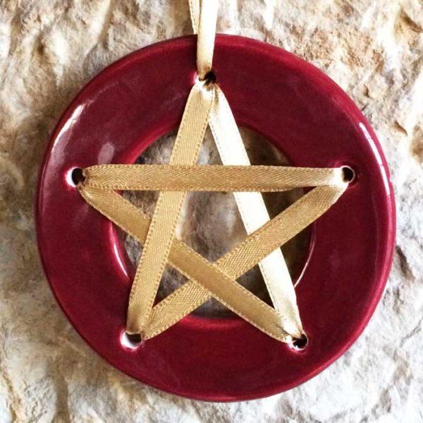 Pentagramme de chance - Rouge- acheter amulette pentagramme