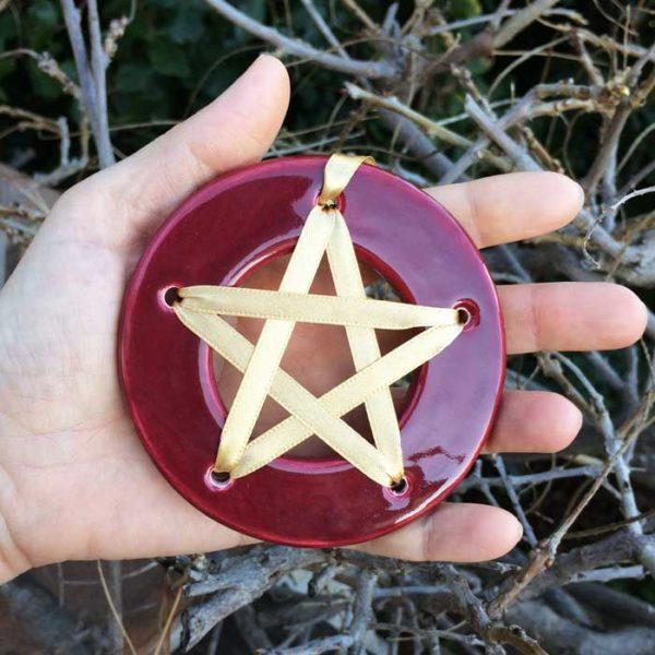 Pentagramme de chance - Rouge - acheter amulette pentagramme