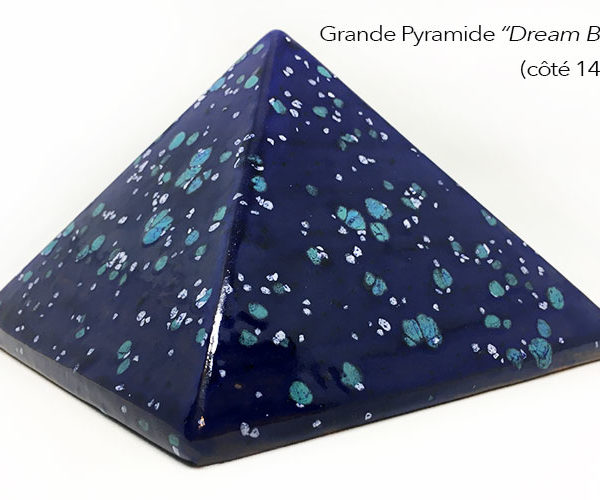 Achat pyramide - pyramide énergétique en céramique (côté 14 cm) - Dream Blue