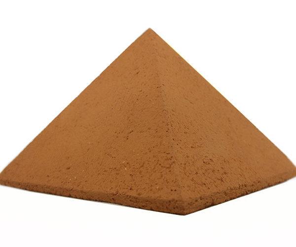 Achat pyramide - pyramide énergétique en céramique (côté 9 cm) - Nature céramique