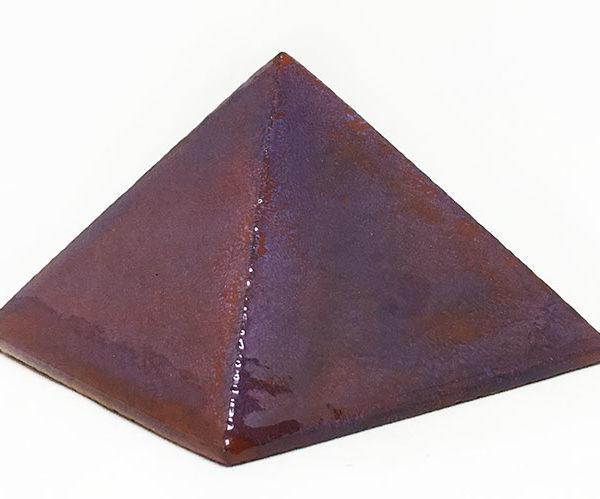 Achat pyramide - pyramide énergétique en céramique (côté 9 cm) - prune