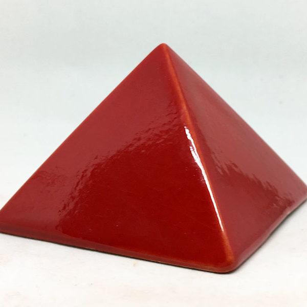 Achat pyramide - pyramide énergétique en céramique (côté 9 cm) - rouge