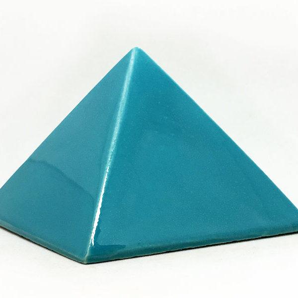 Achat pyramide - pyramide énergétique en céramique (côté 9 cm) - turquoise