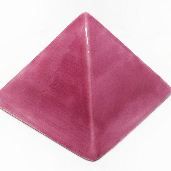 Achat pyramide - pyramide énergétique en céramique (côté 9 cm) - fuchsia