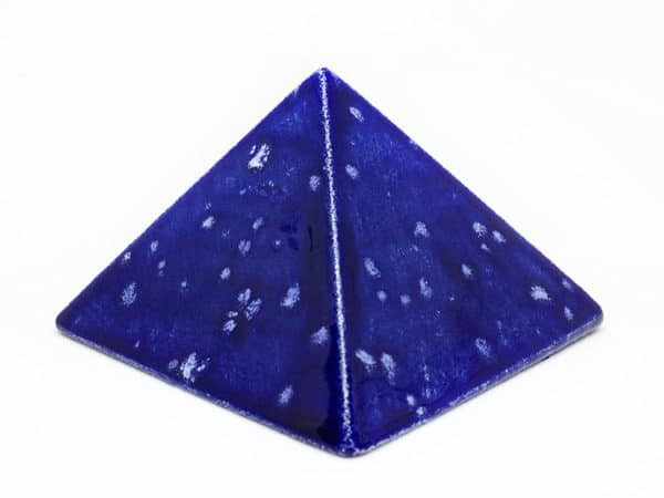 """Achat pyramide - pyramide énergétique en céramique (côté 9 cm) - """"ciel enneigée"""""""