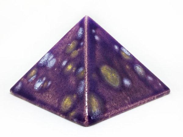 Achat pyramide - pyramide énergétique en céramique (côté 9 cm) - Orchidée royale