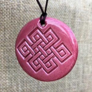 nœud infini en céramique unisexe tradition bouddhisme tibétain