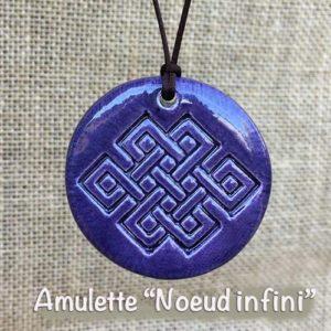 Amulette Noeud infini - objet magique