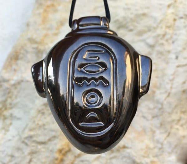 Amulette égyptienne pour l'Amour - Gris métallisé