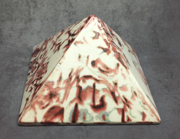 Pyramide nerikomi égyptienne en céramique - Pyramide énergétique (côté 14 cm)